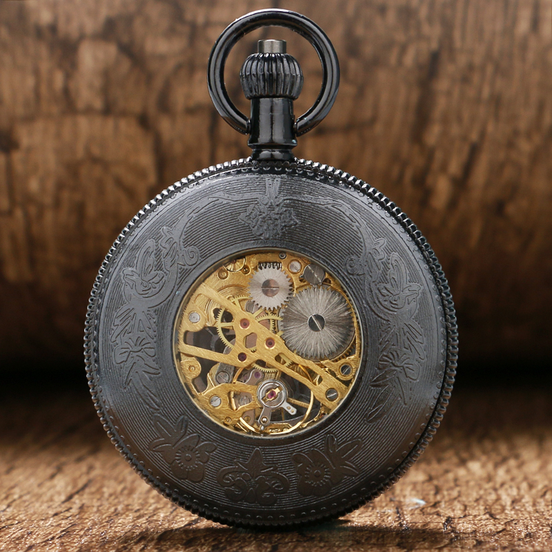 Retro Vintage Mechanical Hand Wind Pocket Watch for Men Automatic Watches Mens Womens with Chain   P859C купить