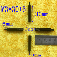 1Pcs M3*30+6 Black Nylon Standoff Spacer Standard M3 Male-Female 30mm Kit Repair Set High Quality