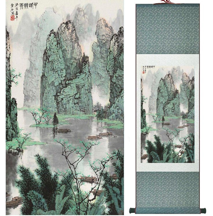 Mountain and River painting Chinese scroll painting landscape art painting home decoration picture 041709