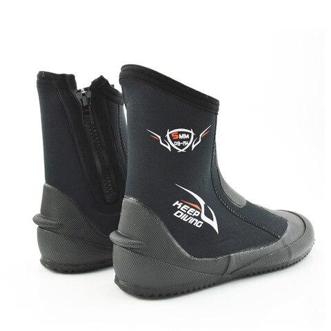 Botas de Neoprene para Mergulho Vulcanização de Inverno e à Prova de Frio Sapatos com 5mm para Mergulho