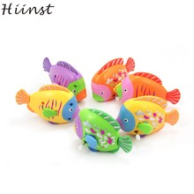 Chain On The Discus Fish Tail Moving ChildrenTake A bath Toy On the chain of colorful fish drop ship july11 P23(China)