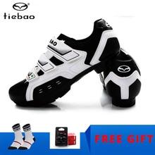 цена TIEBAO cycling shoes Mountain Bike Shoes Racing Bike MTB Cycling sneakers Breathable Mens Self-Locking Athletic Bicycle Shoes онлайн в 2017 году