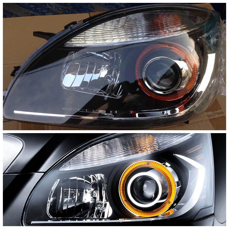 Geely SC7,SL,Car front headlight head light assembly, geely gc7 car silver background headlight head light transparent cover with the glue