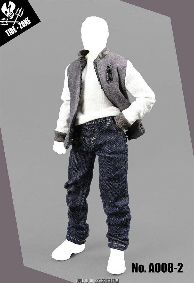 1/6 échelle homme homme chandail à capuche 1/6 échelle Baseball vêtements marée-ZONE Baseball costume Action Figure modèle jouet - 6
