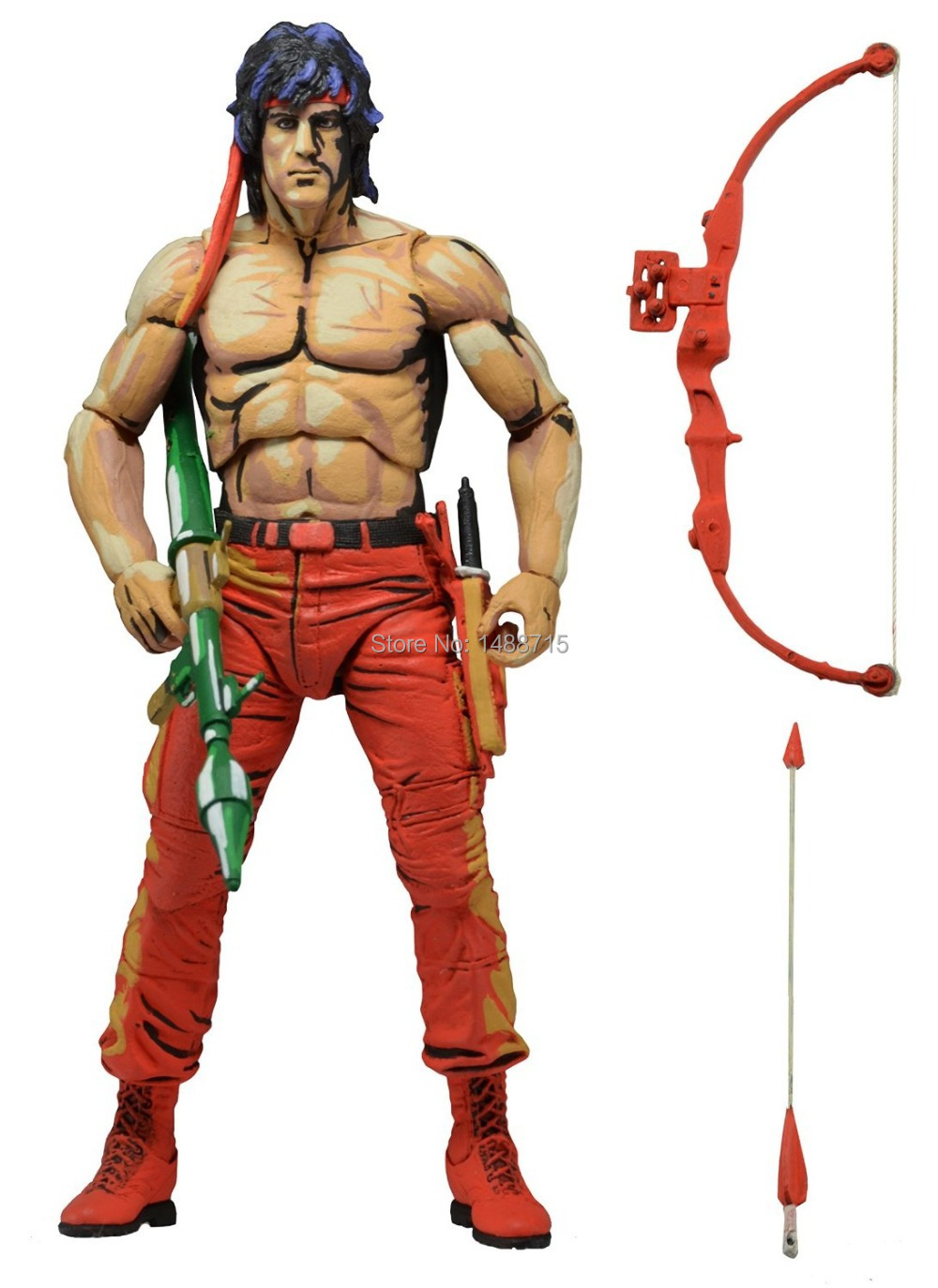 Hot Sale Sylvester Stallone Classic Movie First Blood Part II Rambo NECA  7Action Figure Toys New Box maybelline new york color sensational 745 кофейный ликер page href