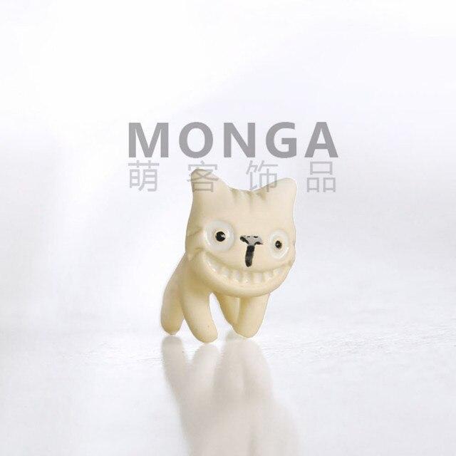 Сережки в форме улыбающейся кошки в ассортименте 3