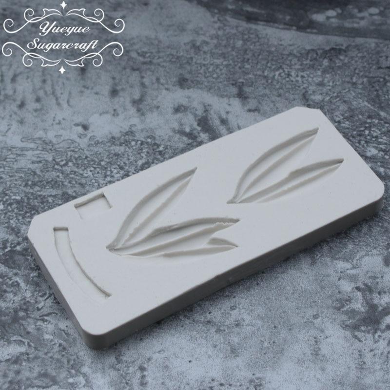 Yueyue силиконовая форма с бамбуковыми листьями, форма для помадки, инструменты для украшения тортов