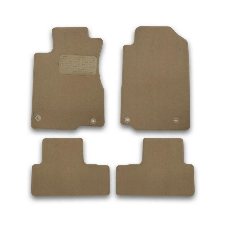 Mats in salon Klever Premium For HONDA CR-V, 2015-2016, cross... 4 PCs (textile, beige) tcrt5000 reflective infrared sensor photoelectric switches 10 pcs