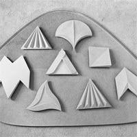 Multi designs concrete tile mold silicone wall brick molds Maple leave shaped brick mold