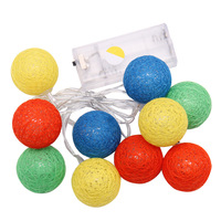 10 200 Globes LED Cotton Christmas Ball Light Dry Battery 1 20M String Lights For Banquet