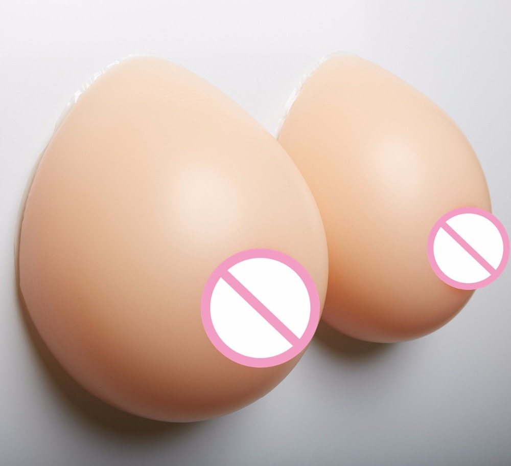 Realistic Fake Breasts Drag Queen Sissy Silicone Boobs Large Breast Forms Full Silicone 2800g/pair GG cup цена 2017