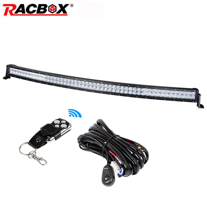 288W 50 inch 5D LED Work Light Bar Combo Beam Curved Offroad LED Working Driving Lamp For ATV SUV MPV Trailer Truck Tractor Boat tripcraft new 17 24 inch 216w off road ramp led light bar driving working light combo beam for 4wd suv tractor free shipping