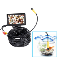 5V/12V 10mm Len AV Waterproof Endoscope Mini Camera 1m/5m/10m/15m/20m Flexible Snake Pipe Inspection Inspection Endoscope Camera