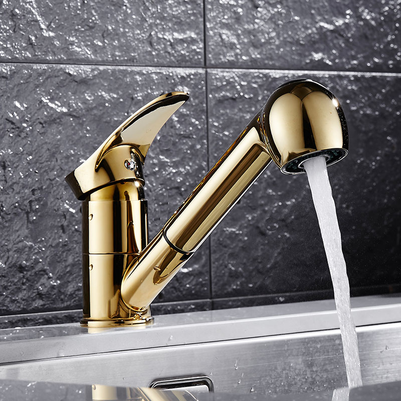 Kitchen Faucet four colors:gold/chrome/black/nickel/white Pull Out ...