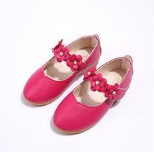 Primavera Outono Meninas Sapatos de Marca Sandálias Princesa Couro Arco Único Respirável Sneaker Bebê Crianças Sandálias de Praia Casuais