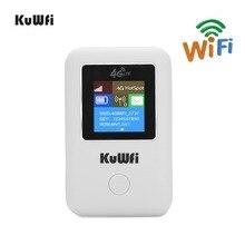 KuWFi 4G Roteadores WI FI Roteador Cartão Sim LTE Bolso Mini Router Ao Ar Livre Carro Wi fi Hotspot Móvel para hauwei Maçã xiaomi