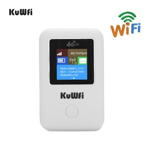 Image 1 - KuWFi 4G WIFI Router Sim Card Pocket LTE Router Mini Outdoor Routers Car Mobile Wifi Hotspot for hauwei Apple Xiaomi