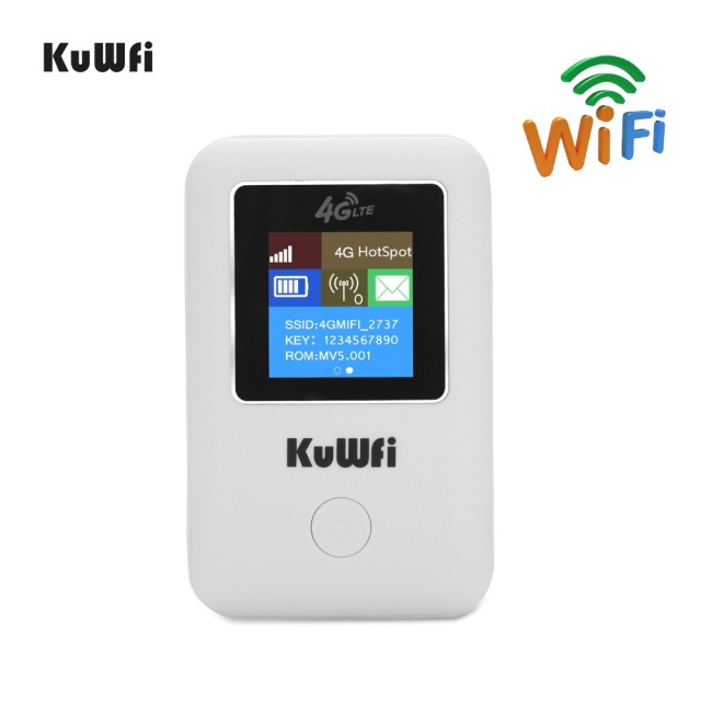 KuWFi 4G WIFI Router Sim Card Pocket LTE Router Mini Outdoor Routers Car Mobile Wifi Hotspot for hauwei Apple Xiaomi