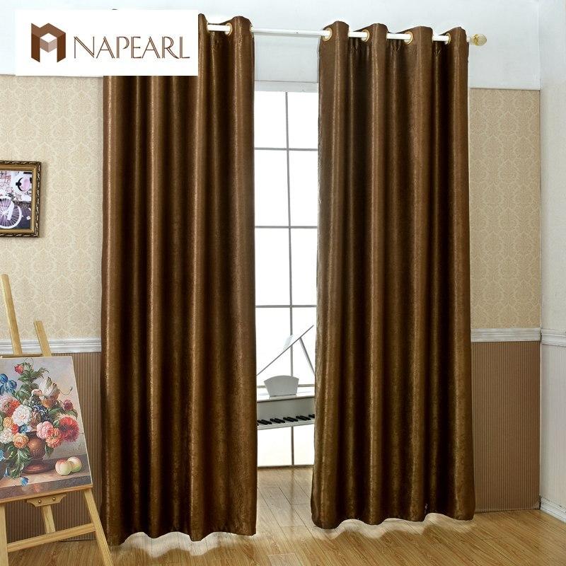 NAPEARL Solide Blackout Vorhänge Für Wohnzimmer Voller Schatten Fenster  Behandlungen Moderne Vorhänge Schlafzimmer Küche Vorhänge Wohnkultur
