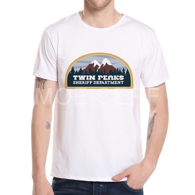 최신 스타일 트윈 봉우리 티셔츠 남성 TV 2017 여름 패션 남성 인쇄 T 셔츠 캐주얼 옷 멋진 최고 티 공장 콘센트 K10-3 #
