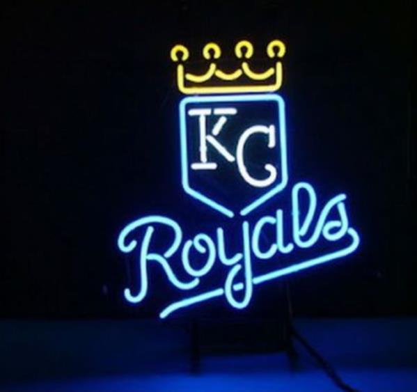 """Business Benutzerdefinierte NEON schild Für Baseball Kansas City Royals ECHT Glasrohr BIER BAR PUB Club Shop Licht Zeichen 15*14"""""""