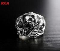 925 стерлингового серебра Подлинная восточные вибрации Новый кольцо дракона