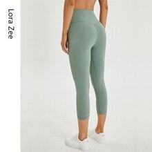 Леггинсы спортивные женские спортивные штаны с высокой талией животик контроль спортивные Леггинсы со скрытыми карманами 4 способа Стрейч Обрезанные Леггинсы для йоги