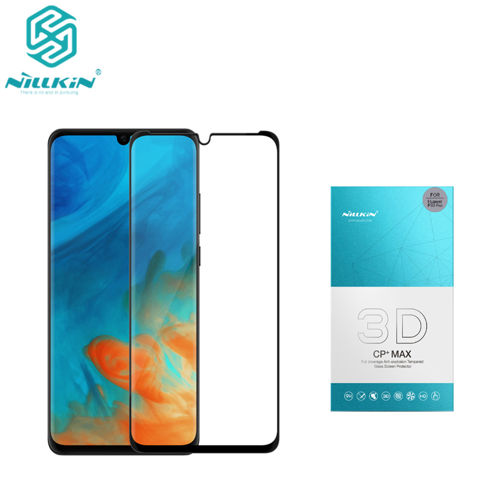 NILLKIN Amazing 3D CP+ MAX Full Coverage Nanometer Anti Explosion 9H Tempered Glass Screen Protector For Huawei P30 Pro-in Phone Screen Protectors from Cellphones & Telecommunications
