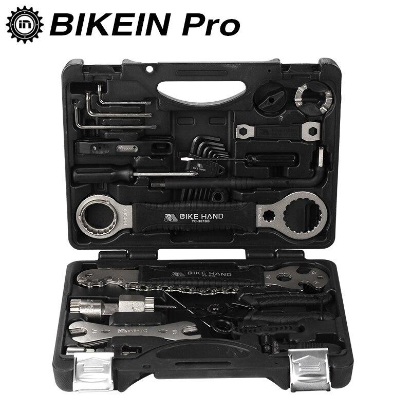 BIKEIN 18 in 1 Bike Repair Tools Kit Set Multifunction MTB Tire Chain Repair Tools Spoke Wrench Hex Screwdriver Bicycle Tools