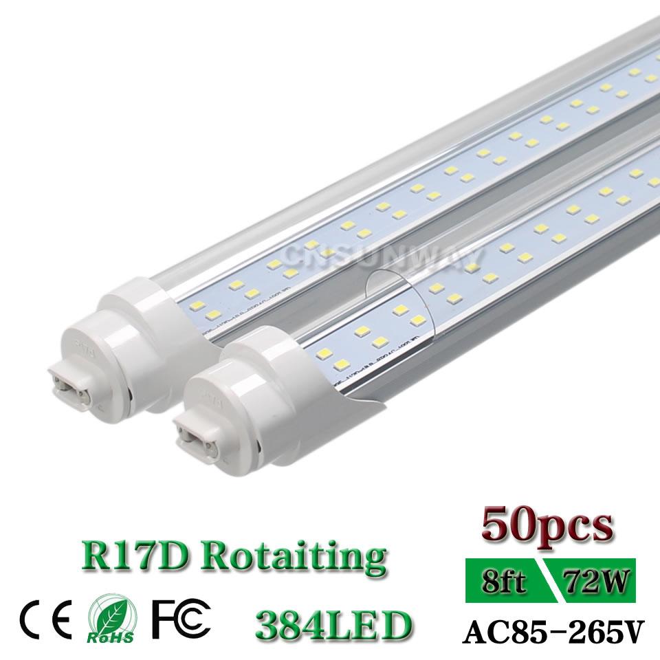 8 Ft 2 Lamp Fluorescent Strip Light White No Ssf2964wp 8ft: F96T12 T10 HO/CW Fluorescent R17d Tube Light 72W T8 8ft