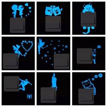 Naklejki ścienne świecące w ciemności do włącznika światła