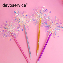 10Pcs Kawaii Shining Colorful Silk Ballpoint Pen Cute Stationery Gel for School Students Signature Pens Gifts Random Color