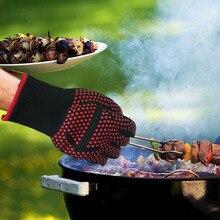 1 xтермостойкие толстые силиконовые приготовления пищи для выпечки для барбекю духовка перчатки для барбекю гриль варежки блюдо моющиеся перчатки кухня дропшиппинг