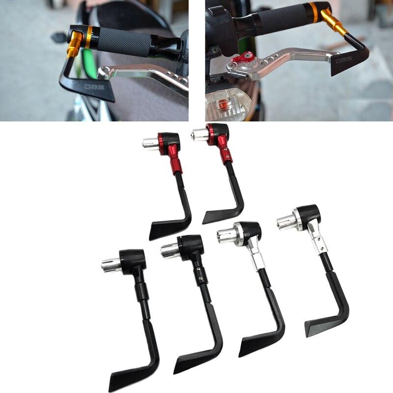 JEAZEA Motorcycle CNC Anti Fall Brake Clutch Levers Handguard Hand Grips Handle Bar Protector For Bike Harley ATV Dirt Bike