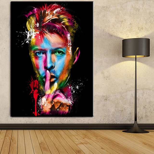 Xdr077 Famous Singer Painting David Bowie Canvas Art Poster Prints Living Room Bedroom