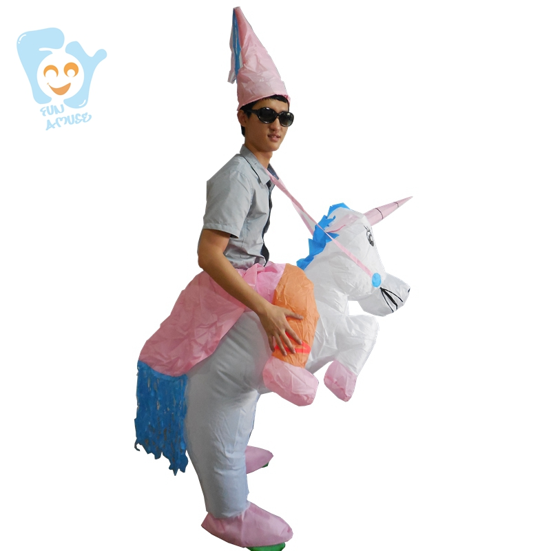 858f414c89d5 Halloween Costumes For Women Men Adults Inflatable Unicorn Costume Fancy  Christmas Party Dress-in Anime Costumes from Novelty   Special Use on ...