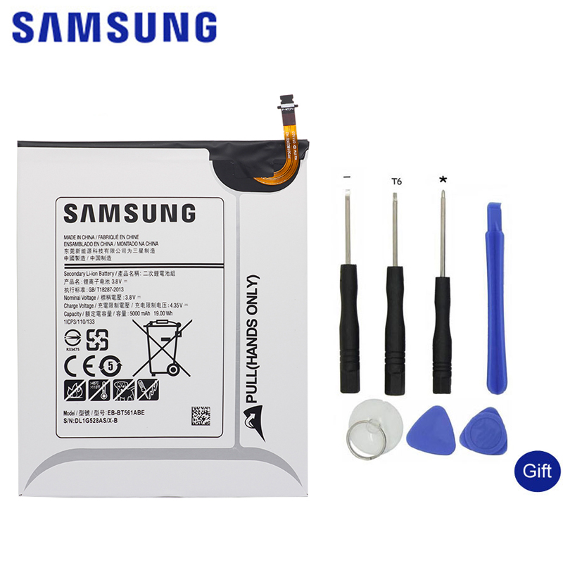 SAMSUNG Tablet Replacement Battery EB-BT561ABE For Samsung GALAXY Tab E T560 T561 SM-T560 Authentic Original Battery 5000mAh