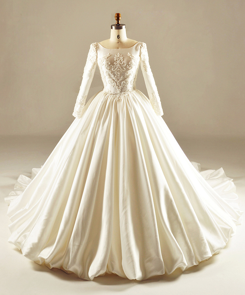 Vintage Wedding Dresses For Sale: 2017 Real Picture Ball Gown Wedding Dress Cheap Cathedral