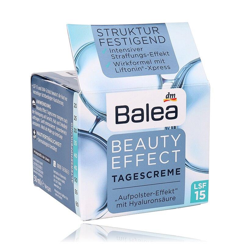 Německo Balea denní krémy hydratační péče o pokožku péče o pleť denní krém hyaluronová kyselina zlepšuje vzhled pokožky zjemňuje vrásky