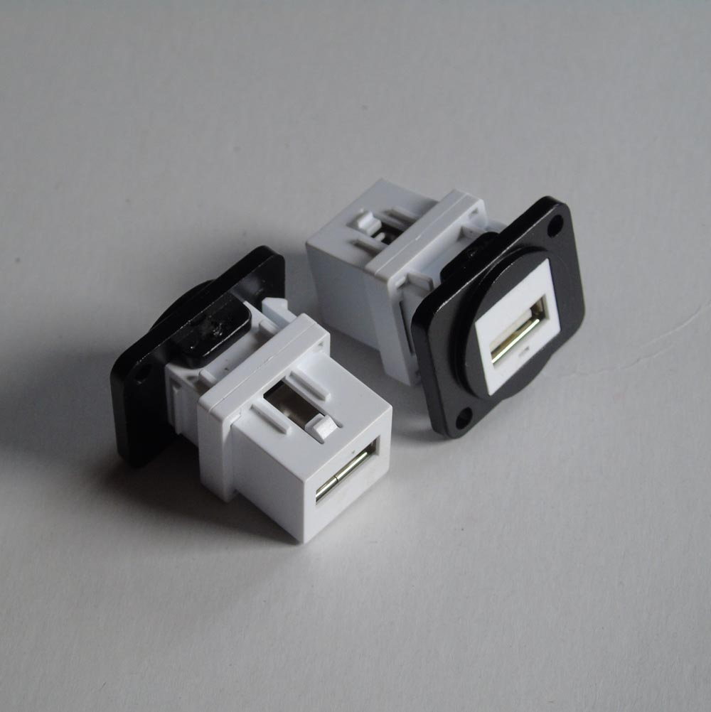 Lot Of 50 D Usb Module Panel Mounting A981 Adapter Micro Android To Type C Hippo Black