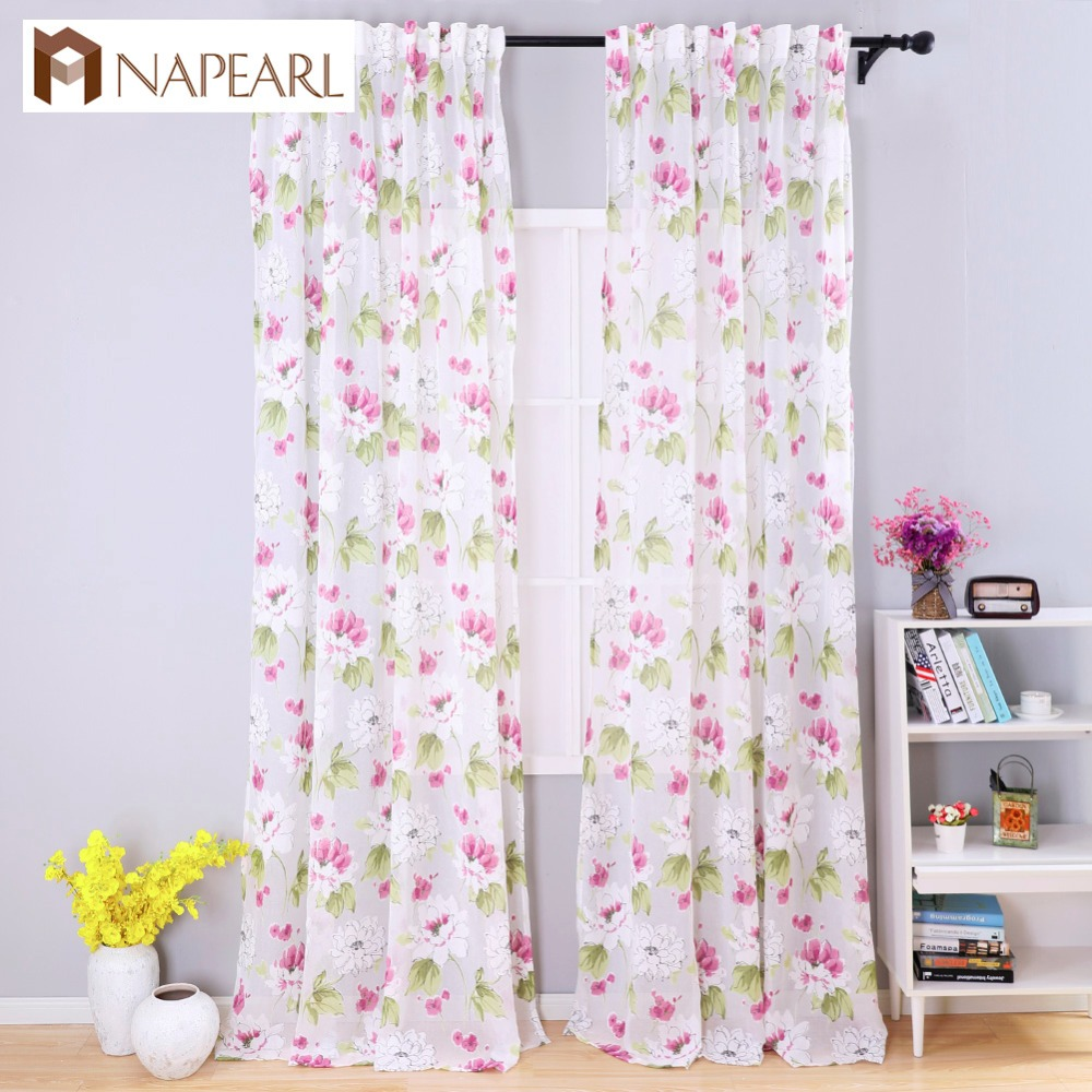 Kids modern bedroom curtains - Modern Curtains Semi Sheer Fabrics Burnout Floral Design Spring Kitchen Door Curtains Balcony Short Curtains Bedroom Girl Kid