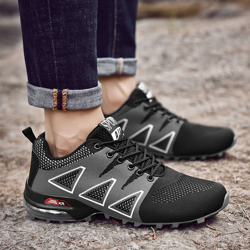 Grandes Mode Homme Black Respirant Chaussures 2018 Sneakers Trairner Travail blue Hommes 39 red 47 Tailles Casual Marque Antidérapant BRUqPU