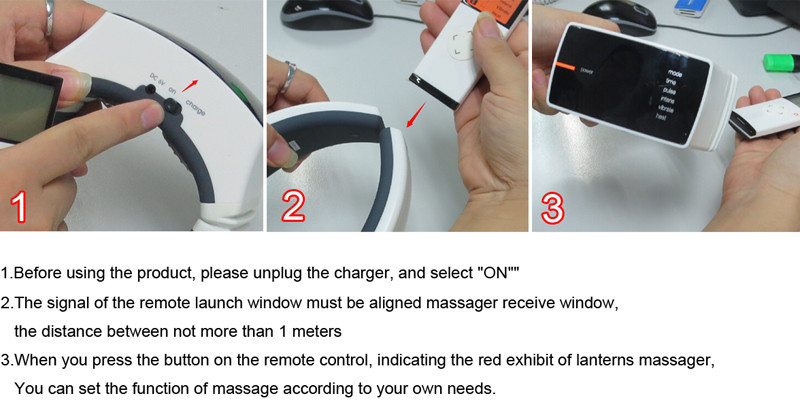 KIKI Beauty World.Wireless Remote Control Neck massager health care product Cervical therapy instrument massage tools 17