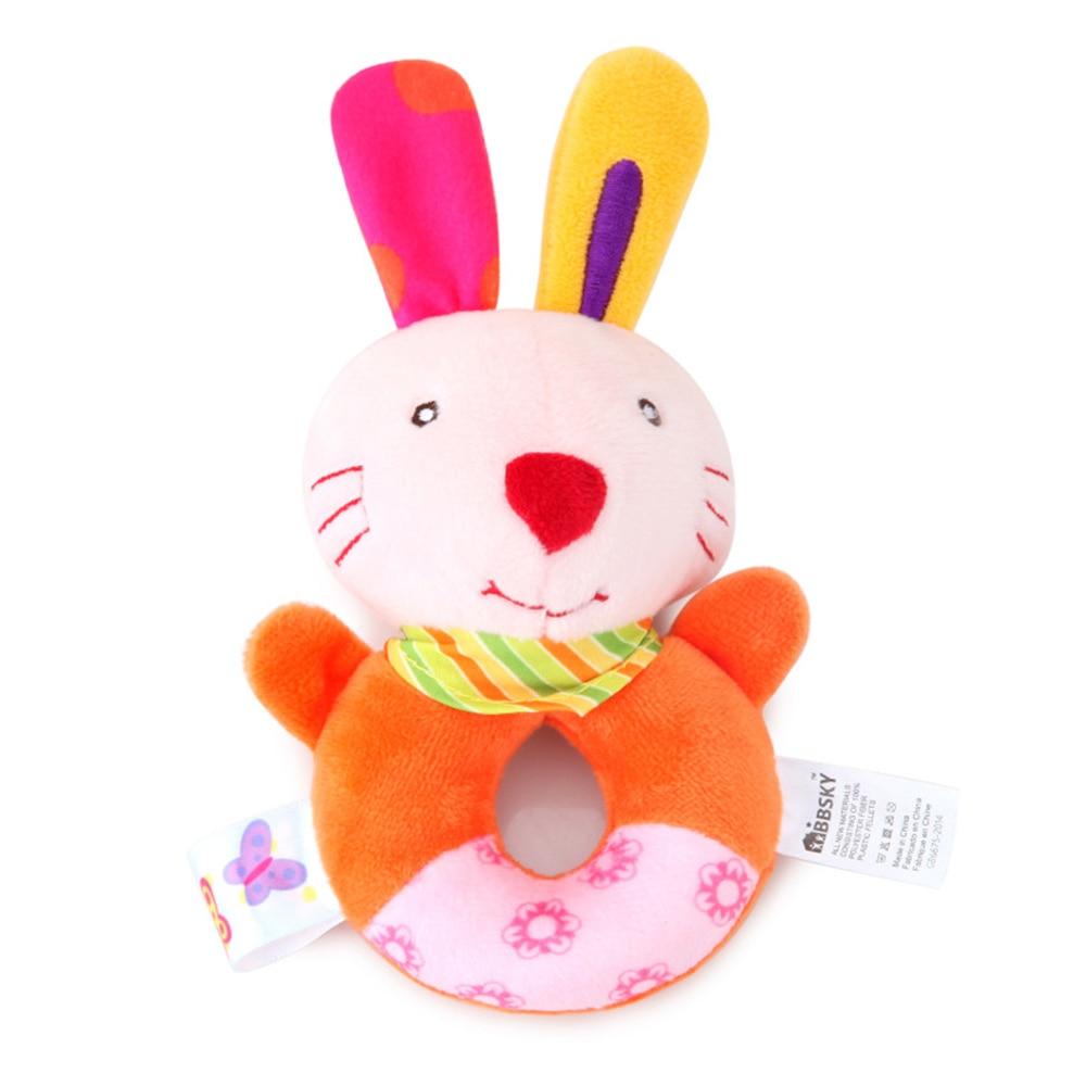 Детские погремушки Fulljion, развивающие игрушки для детей, Прорезыватель для зубов, Колокольчик для малышей, детская коляска, подвесные куклы - Цвет: rattle rabbit