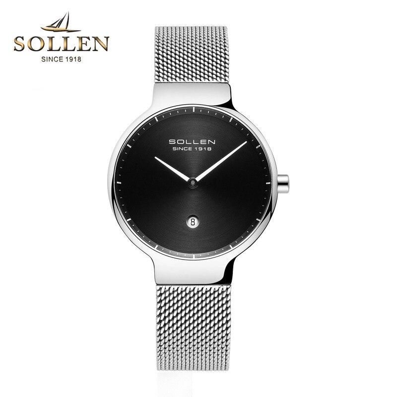 New Fashion Ladies Watches luxury brand watch Women quartz watch stainless steel mesh strap ultra thin dial clock reloj mujer - 4