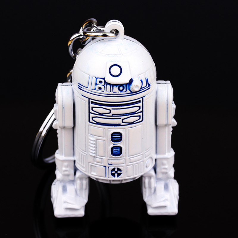 Hot Star Wars Movie Seriers 3D Robot R2-D2 Keychain Pendant Alloy Key Rings For Gift Chaveiro Key Chain Jewelry Accessories