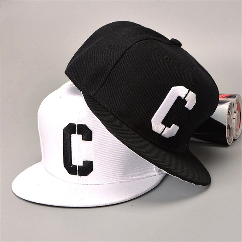 [TIMESWOOD] Embroidery C Snapbacks Hats Letter Baseball Caps Black White Hip Hop Brim Straight Hat Color Summer Mens Womense rosicil letter hats gorros bonnets cocain