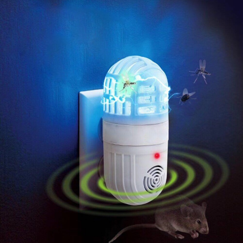 New Electronic Mosquito Killer Lamp Fly Bug Insect Trap Killer Bug Zapper Anti Mosquito Mouse Repellent Home Accessory