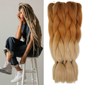 Ombre Braiding Hair Kanekalon Lots 24'' 100g High Temperature Silver Fiber Brown Expression Synthetic Braiding Hair Extension