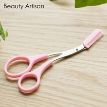 Eyebrow Trimmer Scissors With Comb Lady Woman Men Hair Removal Grooming Shaping Shaver eye brow trimmer